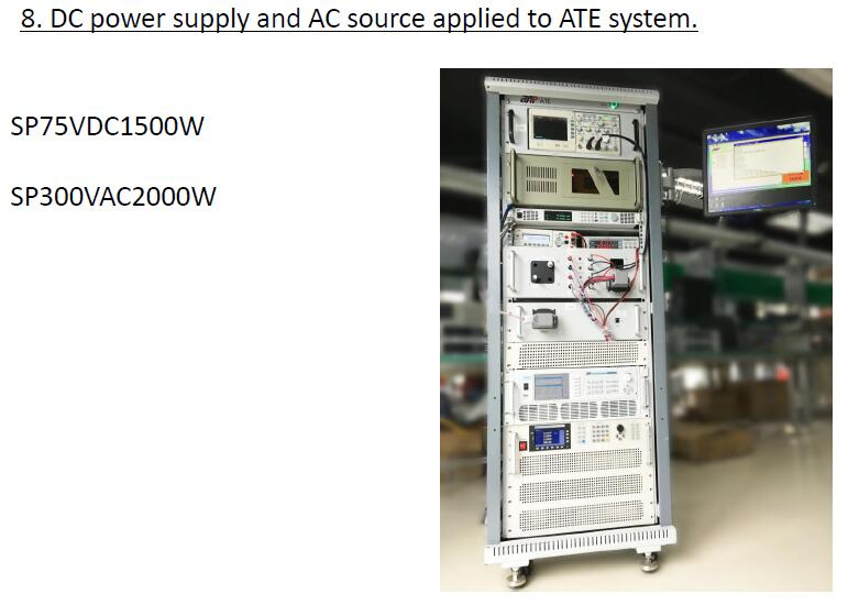 DC power supply and AC source applied to ATE system