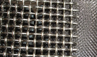 stainless steel crimped woven wire mesh
