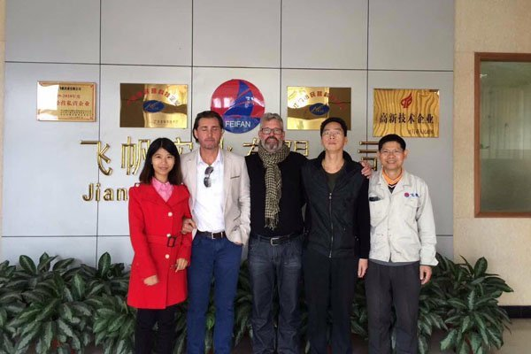 New zealand customers and SAI audited Feifan plant 2015