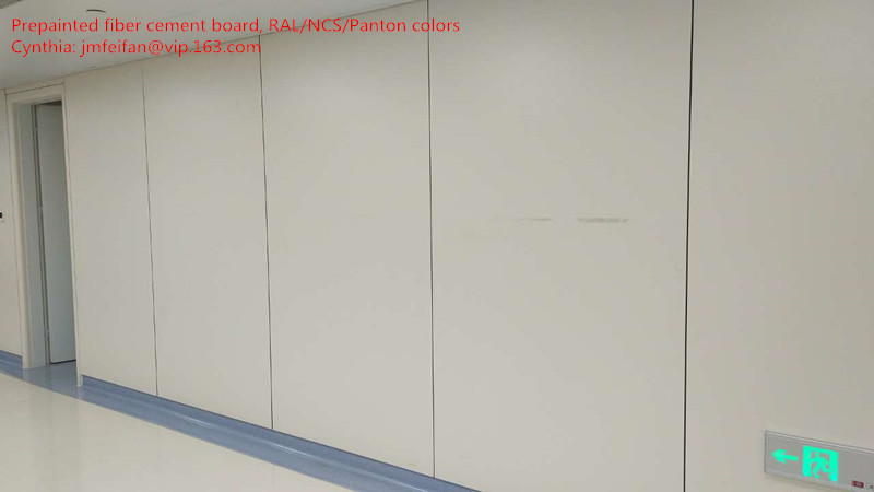 White fiber cement board for hospital wall