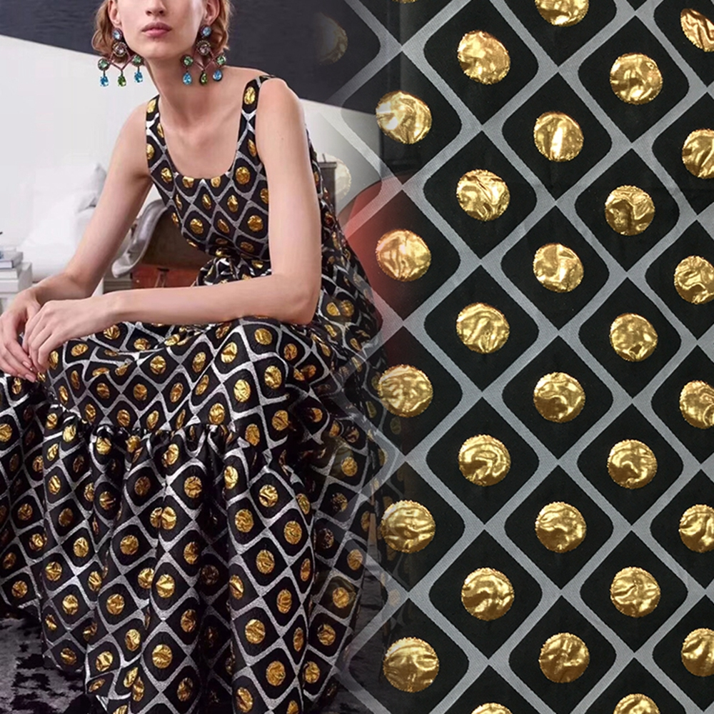 Super Gold Brocade Jacquard Fabric for Clothing