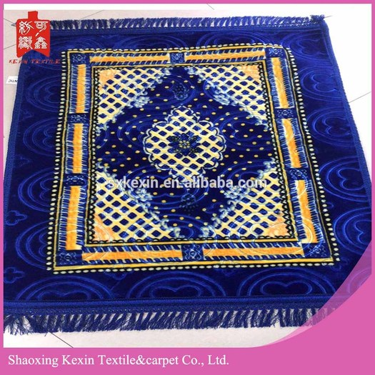 100% polyester printed embossed mink muslim prayer mats