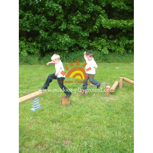 Wooden Play Set  Commercial Playground Accessories Equipment
