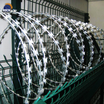 450mm Coil Diameter Concertina Fencing Razor Wire