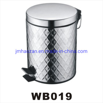 High Quality Stainless Steel Flat Lid Pedal Waste Bin, Dustbin