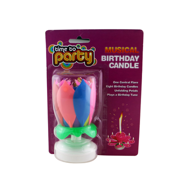 Singing Music Magic Colorful Rotating Birthday Cake Candle
