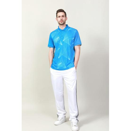 MEN'S POLY DIGITAL PRINTED POLO SHIRT