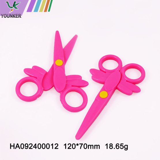 Children's safety hand made round scissors