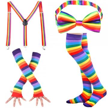 LADES Rainbow Stripe High Socks