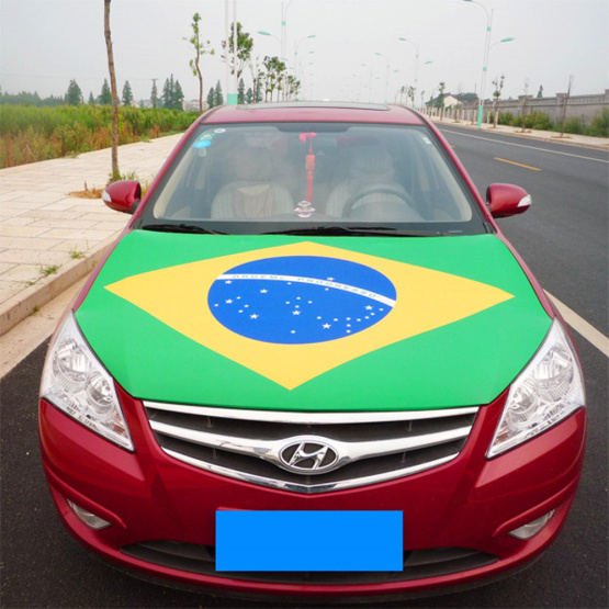FIFA Products Brazil Flag Spandex Material Car Engine Hood cover flag