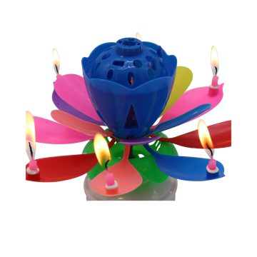 Amazing Singing happy Birthday Lotus music rotating Candle