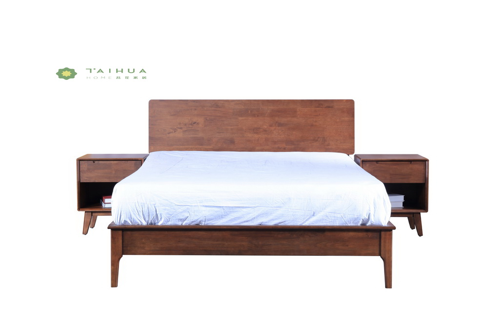 Solid Wood King Bed