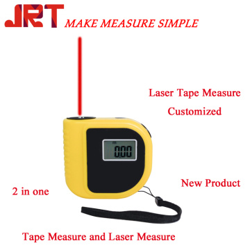 2 in 1 laser measuring tape