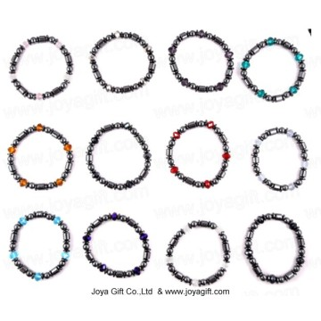 12 Color Hematite Crystal Bracelet