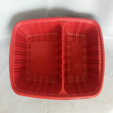 Microwave safe takeaway rectangular disposable plastic