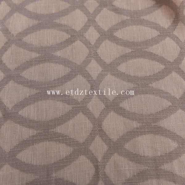 100% Polyester Jacquard Linen Touching Curtain
