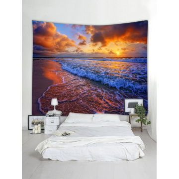 Tapestry Wall Hanging Ocean Sea Wave Sea Coast Beach Series Tapestry Sunrise Sunset Dusk Tapestry for Bedroom Home Dorm Decor