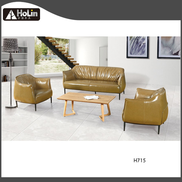 Modern Design Leather Three Person Seat Office Sofa