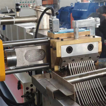 Co-rotating twin screw extruder line