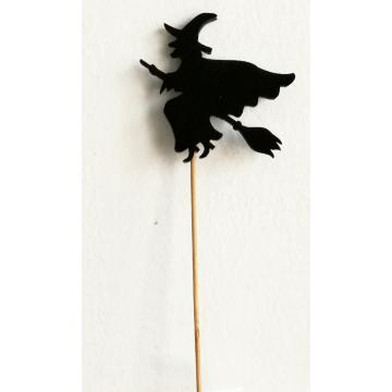 Handmade sponge witch decoration