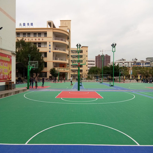 Enlio Produced Basketball Court Used Interlocking Tiles