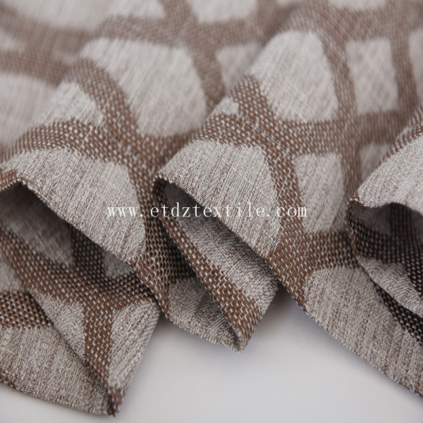 100% Polyester Jacquard Linen Touching Window Curtain