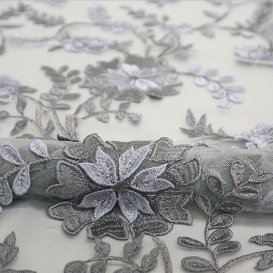 Flower Embroidery lace 3D Africa Fabric