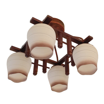 Indoor Simple Wood Pendant Light for Ceiling Lighting