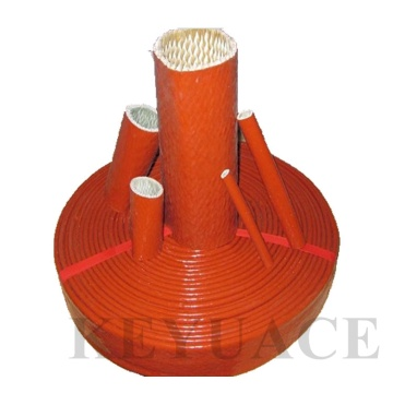 High Temperature Silicone Coated Fiberglass Fire Sleeve