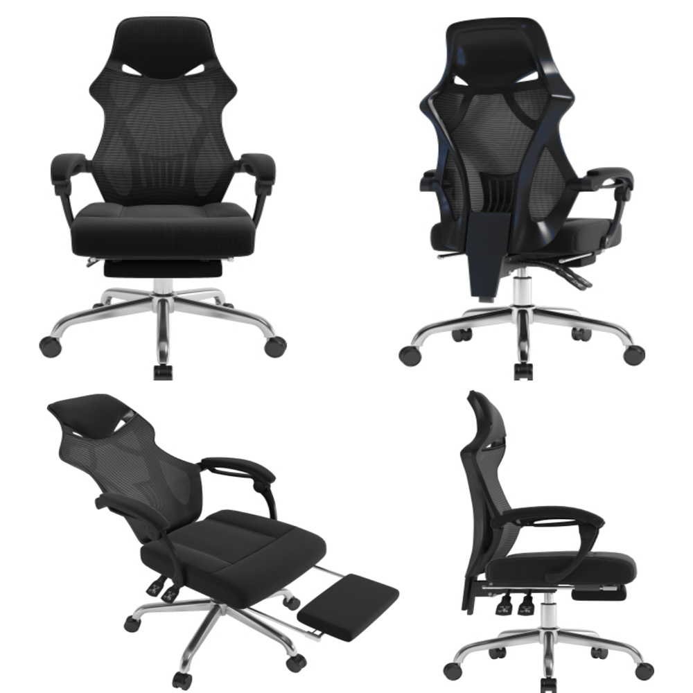 mesh office chair with ottoman