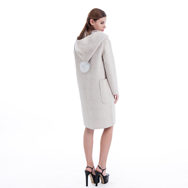 Cashmere Hooded Coat for Winter