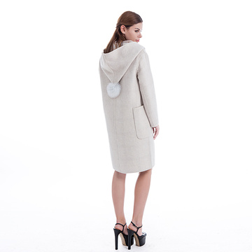 Cashmere Hooded Coat for winter coat