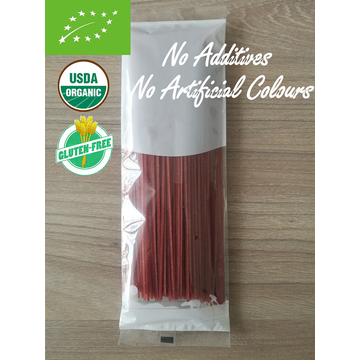 Organic Sweet Potato Pasta with Beetroot