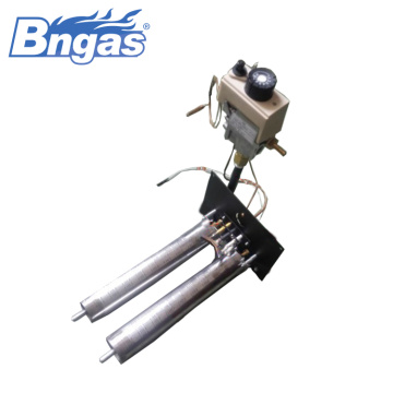 Gas fireplace pizza oven burner components