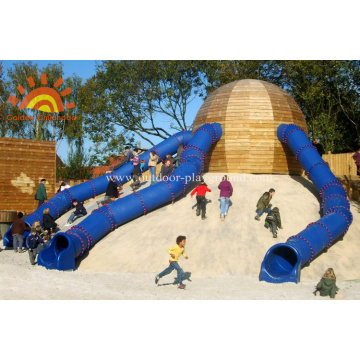 Playground Large Climbing Straight Tube Slide