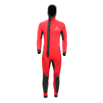 Seaskin Hooded Front Zip One Piece Neoprene Wetsuit