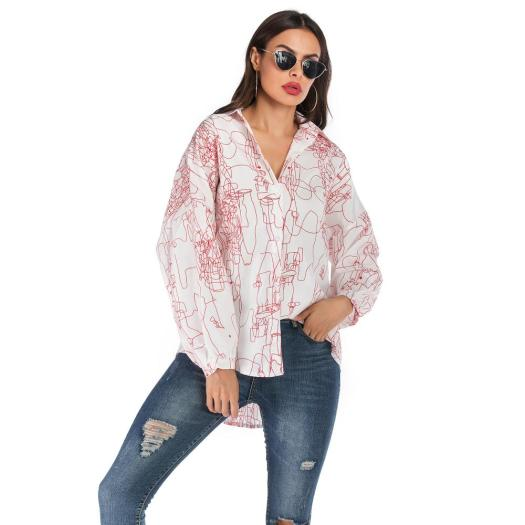 Printing Chiffon Women's Fashion Blouse Shirts
