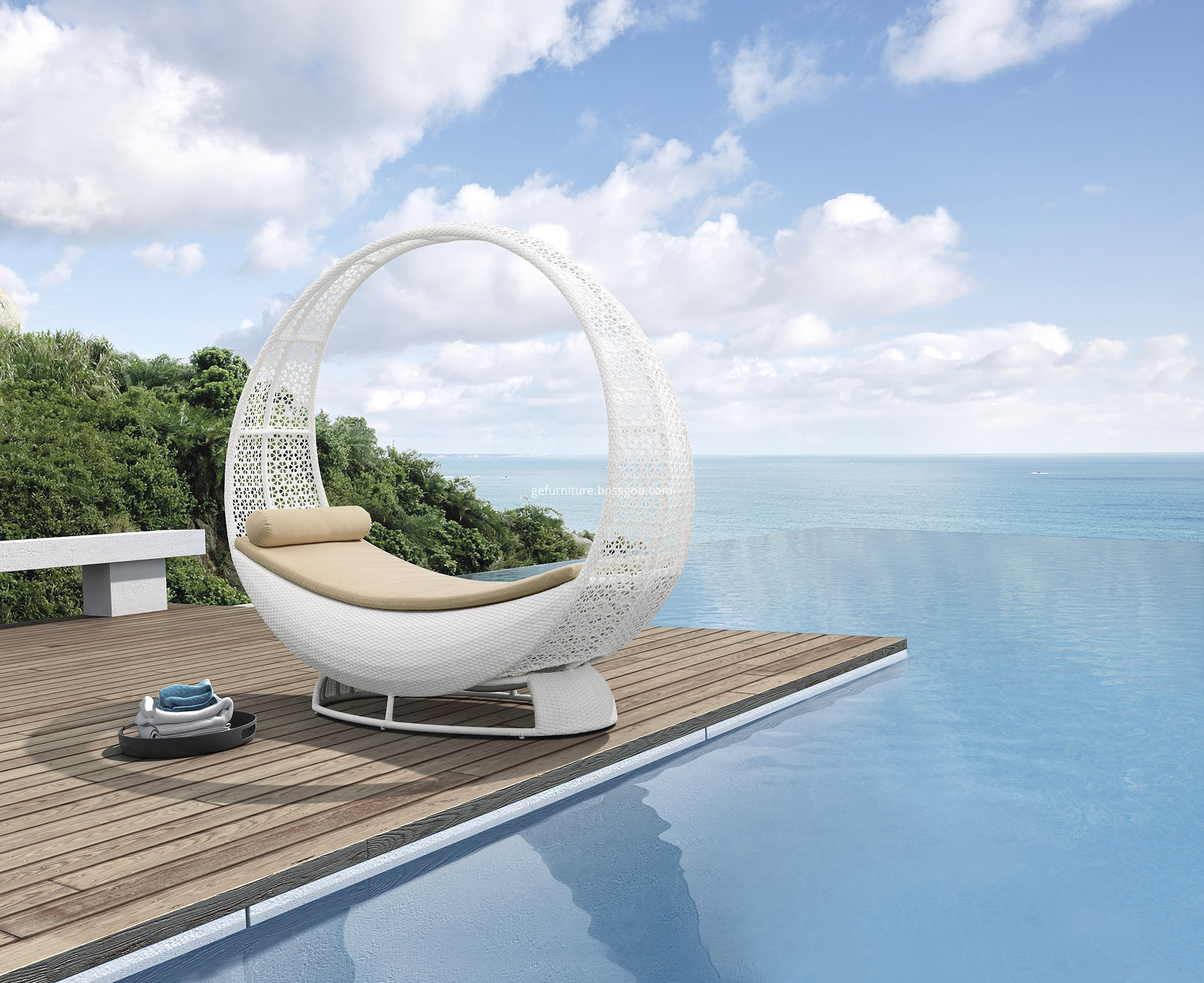 Garden Chaise Lounge Chair