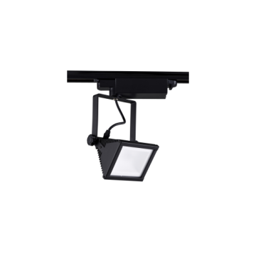 Bright Star Black Square 20W LED Track Light