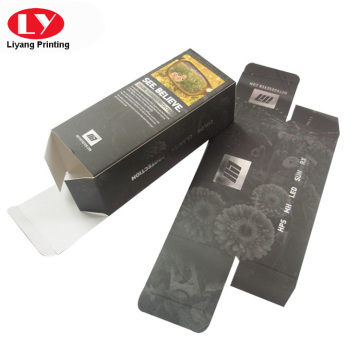 350gsm sunglass packaging box with silver foil Logo