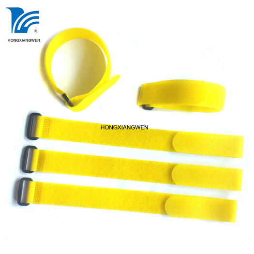 Adjustable Hook And Loop Binding Strap With Buckle