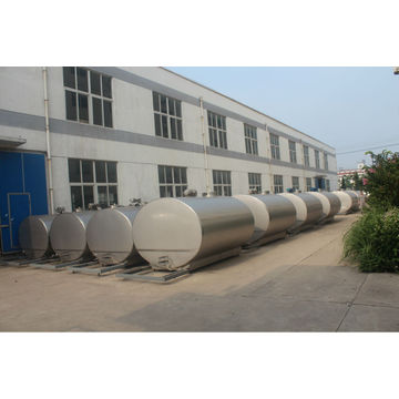 milk cooling tanks with auto CIP