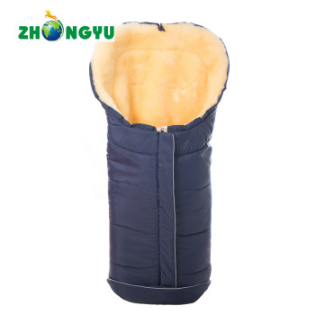 Sheepskin Footmuff with Waterproof