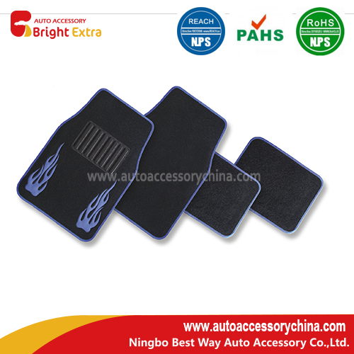 Embrodered Fire Carpet Floor Mats
