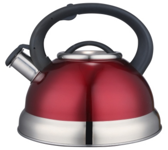 KHK007 2.5L Stainless Steel color painting whistling Teakettle red color