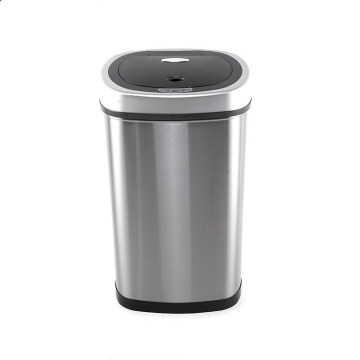 Eco-Friendly 50 Liters Smart Dustbin Automatic Stainless Steel Induction Trash Can Waste Bin