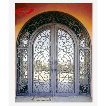 Thermal Break Decorative Exterior Wrought Iron Door