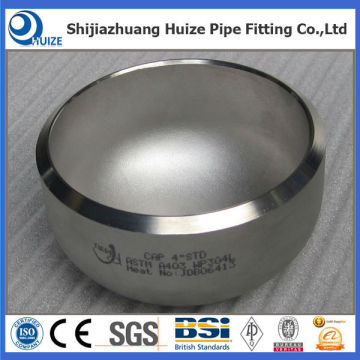 Stainless steel Sch40 pipe fitting cap
