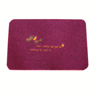 Best quality red embroidery mat for living room