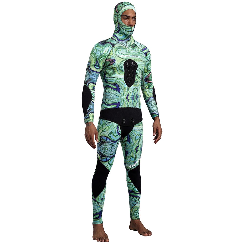 Green Camo Spearfishing Wetsuits